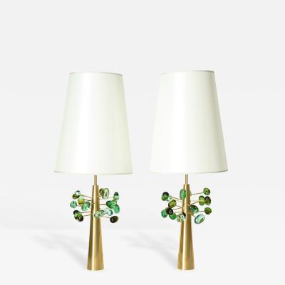 Roberto Giulio Rida Ghiande Pair of Table Lamps by Roberto Giulio Rida Italy