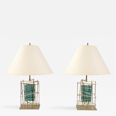 Roberto Giulio Rida N10309 Pair of Table Lamps by Roberto Rida b 1943 Italy 2016