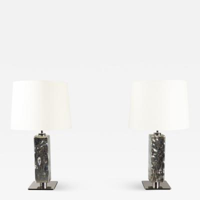 Roberto Giulio Rida Pair of Mirrored Glass Lamps by Roberto Rida Italy 2016