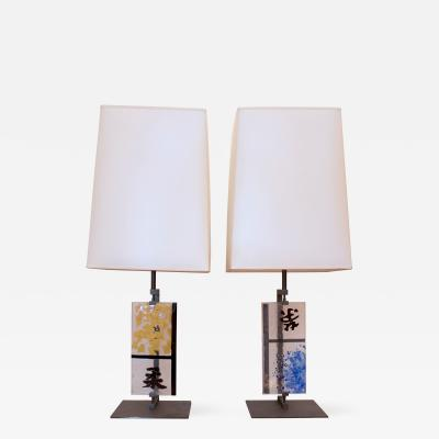 Roberto Giulio Rida Pair of Roberto Giulio Rida Table Lamps Italy 2013
