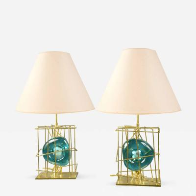 Roberto Giulio Rida Pair of Table Lamps by Roberto Rida b 1943 Italy 2016