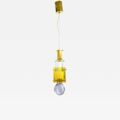 Roberto Giulio Rida Pendant light in glass and brass by Roberto Giulio Rida 2018