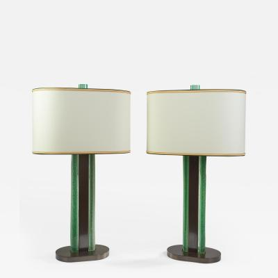 Roberto Giulio Rida Roberto Rida Limited Edition Magnificent Pair of Venini Glass Lamps