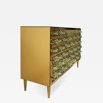 Roberto Giulio Rida Tricot Crystal Mirror Cabinet by Roberto Giulio Rida