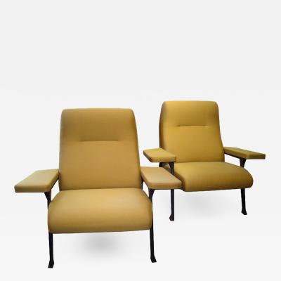 Roberto Menghi Pair of Hall Chairs by Roberto Menghi for Arflex