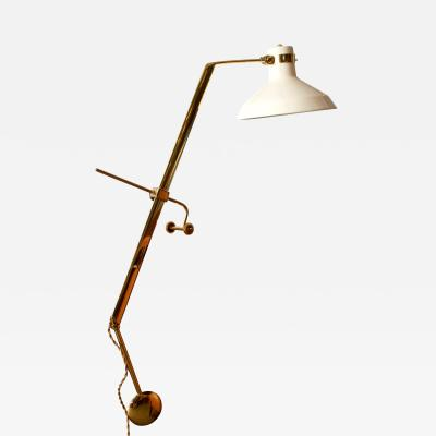 Roberto Menghi Rare Libra Lux Table Lamp by Roberto Menghi for Lamperti Co Italy 1948