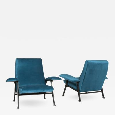 Roberto Menghi Rare Pair of Hall Model Armchairs