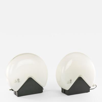 Roberto Pamio Pair of table lamps by Roberto Pamio for Leucos 1970s