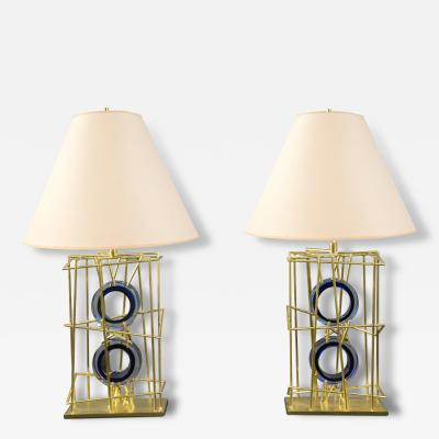 Roberto Rida Pair of Lamps by Roberto Rida b 1943 Italy 2016