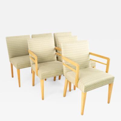 Robsjohn Gibbings for Widdicomb Mid Century Mahogany Dining Chairs Set of 6