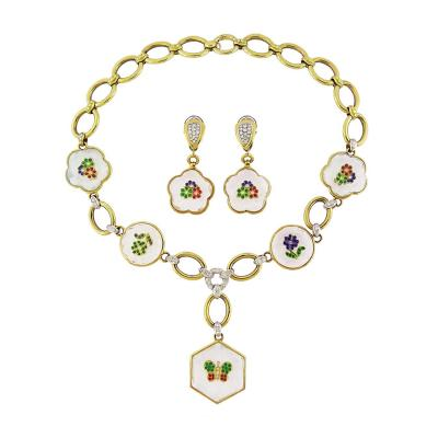 Rock Crystal Multi Gemstone Set