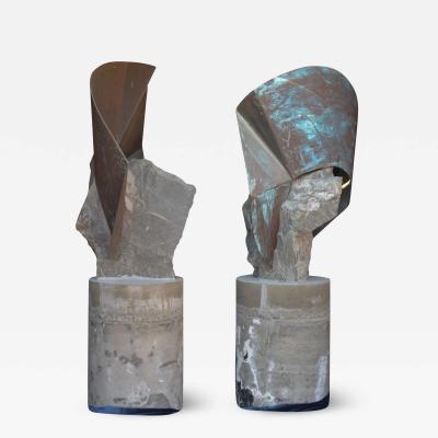 Rock Garden Sculptures Abstract Art Soapstone Copper Rancho Santa Fe CA