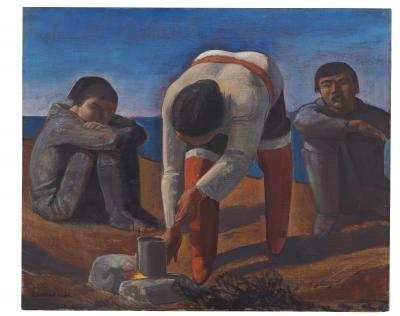 Rockwell Kent Northern Exposure a k a Campfire Girl