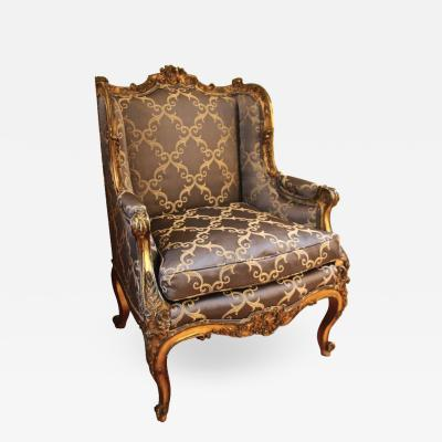 Rococo Style Giltwood Bergere