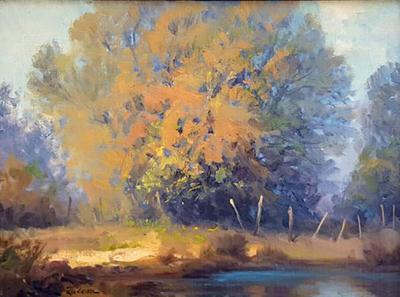 Rod Goebel Rod Goebel Signed Soft Light Landscape