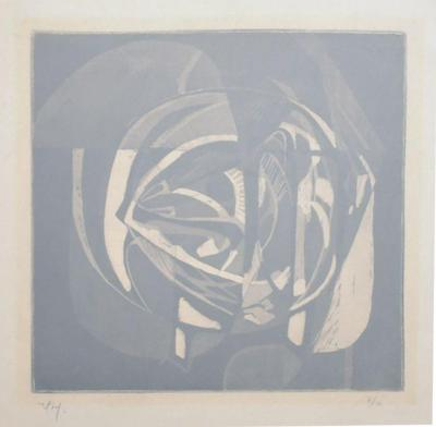 Rodolfo Nieto Abstract Lithograph by RODOLFO NIETO signed pencil 7 10 Mexico 1970s