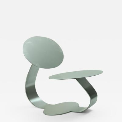 Rodrigo Ohtake Contemporary stainless steel chair by Brazilian designer Ohtake numbered 1 4