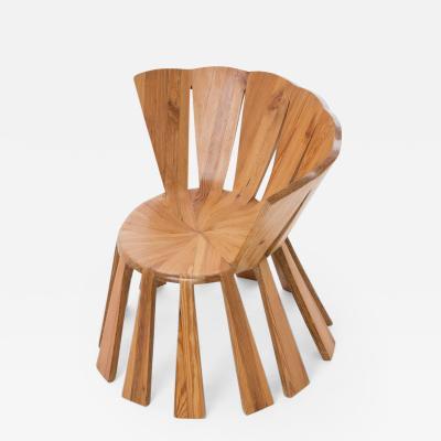 Rodrigo Sim o Contemporary Sol Chair in Reclaimed Wood by Brazilian Designer Rodrigo Sim o