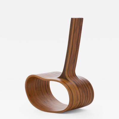 Rodrigo Sim o Limited Edition Contemporary Rocking Chair Feij o Bean by Brazilian Designer