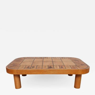 Roger Capron Coffee Table by Roger Capron with Garrigue Tiles