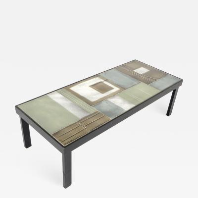 Roger Capron French Ceramic Artist Roger Capron Ceramic Tile Coffee Table