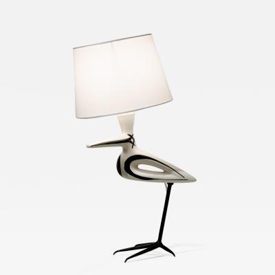 Roger Capron Lampe Oiseau Echassier