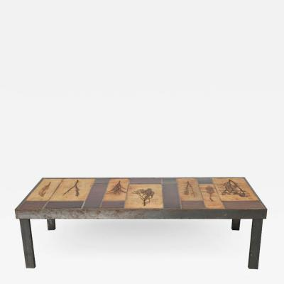 Roger Capron Rectangular Garrigue Coffee Table by Roger Capron