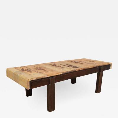 Roger Capron Roger Capron Coffee Table with Garrigue Tiles
