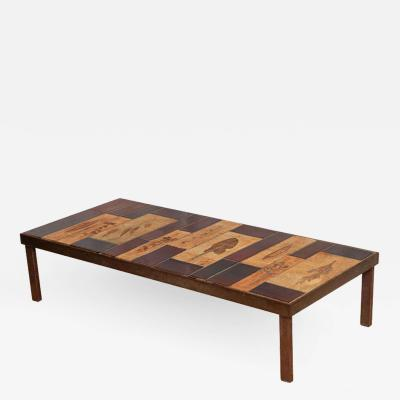 Roger Capron Roger Capron Coffee Table with Garrigue and Lava Tiles