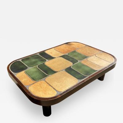 Roger Capron Shogun Ceramic Coffee Table France 1960s