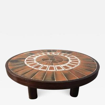 Roger Capron Vintage Ceramic Wall Panel Table by Roger Capron
