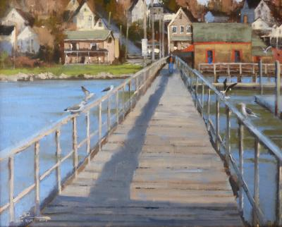 Roger Dale Brown The Footbridge Boothbay Harbor Maine