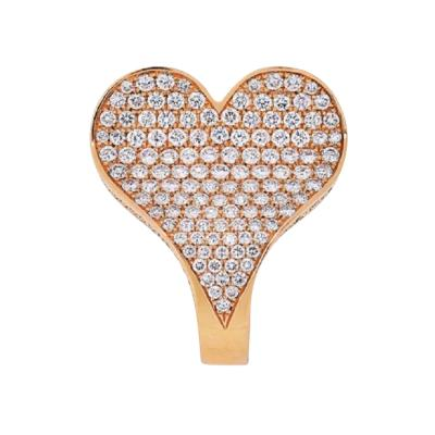 Roger Dubuis ROGER DUBUIS 18K ROSE GOLD CURVED HEART 4 21CTS RING