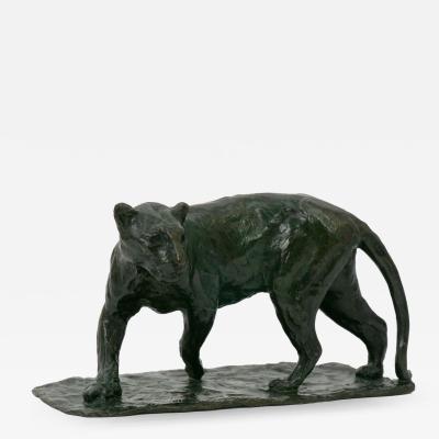 Roger Godchaux Roger Godchaux French 1878 1958 Bronze Sculpture Lionne Marchant