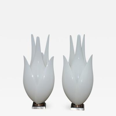 Roger Rougier 1970s Mid Century Modern Table Lamps By Roger Rougier