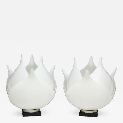 Roger Rougier Pair of Large 1980s Rougier Lamps