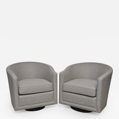 Roger Sprunger Dunbar Swivel Lounge Chairs