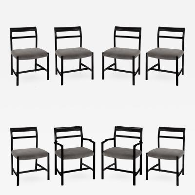 Roger Sprunger Set of 8 Dining Chairs by Roger Sprunger for Dunbar 1967