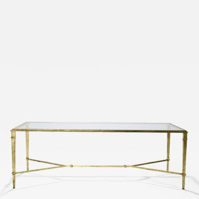 Roger Thibier Roger Thibier gilt wrought iron coffee table 1960 s