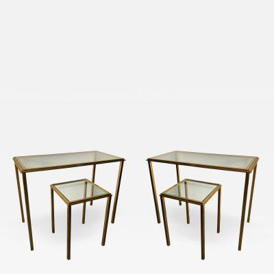 Roger Thibier Set of 4 Side Tables by Robert and Roger Thibier France 1960s