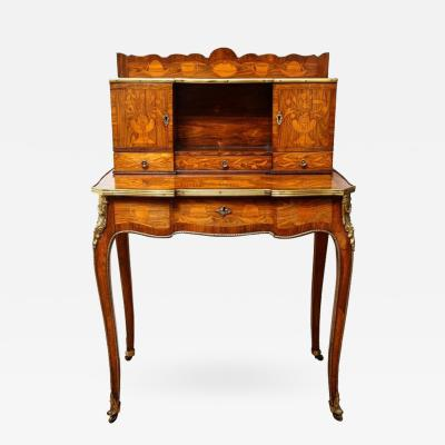 Roger Vandercreuse Lacroix A Late Louis XV Style Rosewood and Tulipwood Marquetry Bonheur du Jour