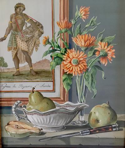 Rogers Turner Still Life with Pears and Flowers 1963
