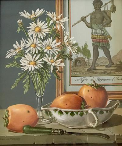 Rogers Turner Still Life with Persimmons and Flowers 1963