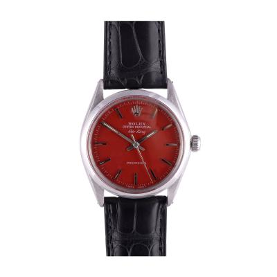 Rolex Air King Custom Red Dial Wrist Watch