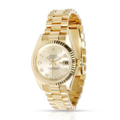 Rolex Datejust 179178 Women s Watch in 18kt Yellow Gold