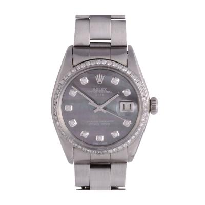 Rolex Oyster Perpetual Date Mother of Pearl Dial Wrist Watch