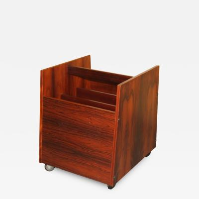 Rolf Hesland Rosewood Magazine Rack LP Caddy by Rolf Hesland for Bruksbo