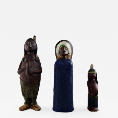 Rolf Palm Rolf Palm H gan s three Indians unique ceramic figures