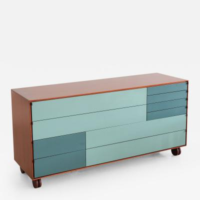 Rolling Ten Drawer Dresser by B B Italia