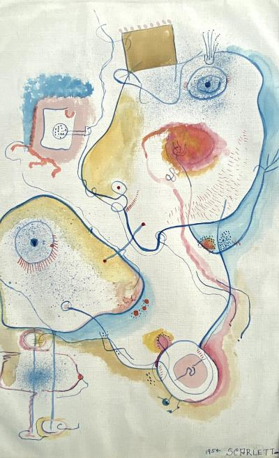 Rolph Scarlett Abstract Figures 1954